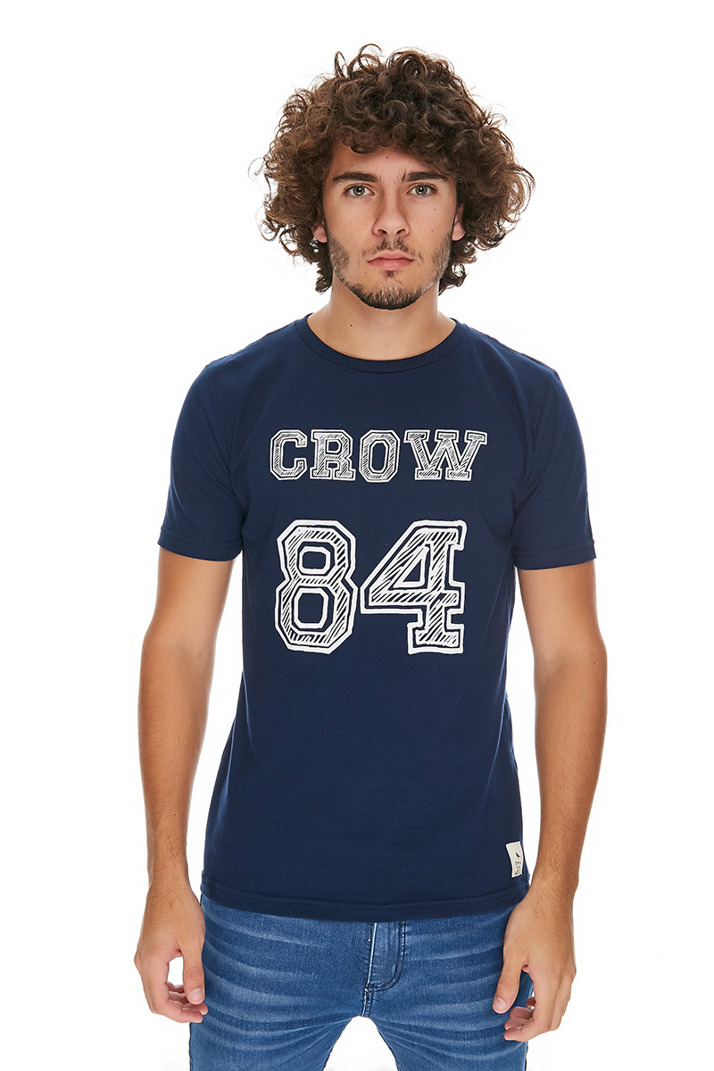 REMERA GRAPHIC TEE CROW 84 MARINO